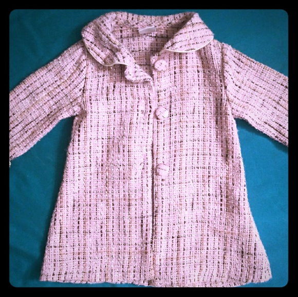 Youngland Other - Pink Sparkly Tweed Pea Coat